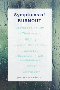 Symptoms of Burnout