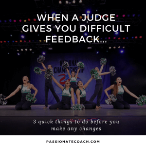 judge feedback